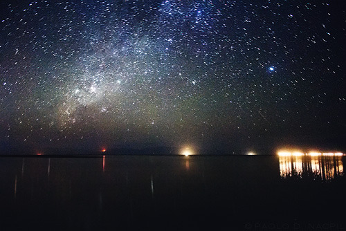 A Starry Sky over the Sea This was taken in Calatagan, Batangas at 8:16pm. It is a 120 second exposure at f/3.5 and ISO 3200 hence the noise.  Photographed by: Paolo Nacpil