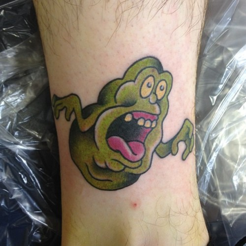 Kicked out this slimer from @deandenny tattoo flash