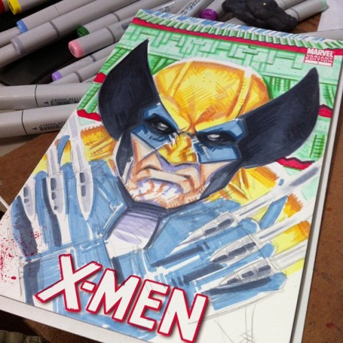 #wolverine progress - halfway done with the set of 3 sketches