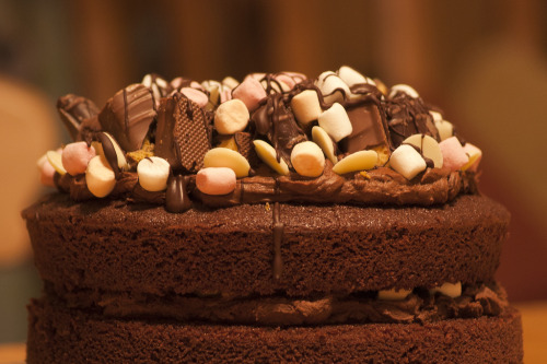 gastronomyfiles:  Rocky Road Chocolate Fudge Cake (by Clifford Fearnley)