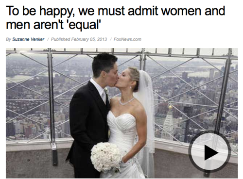 Shh… don't tell Fox News they're using a photo of a lesbian couple for an article about traditional gender marriage roles.