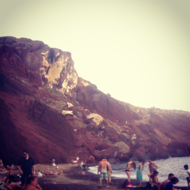 #redbeach #santorini #greece #sun #sea #vacation