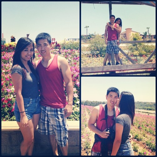 Fun weekend with the fam + babe! :) #theflowerfields #carlsbad #sandiego
