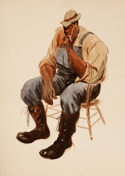 330. Figure painting by Ward Kimball, ca. mid-1940s.