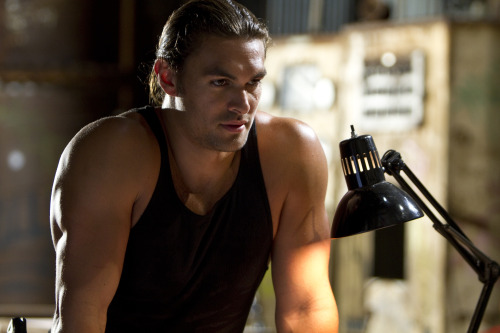 hawaiian-jesus:  trashwire:  A whole bunch of Jason Momoa pictures from Bullet to the Head  Yessssss!  Sweet Jesus! The first pic… his body… I'm gonna pass out!