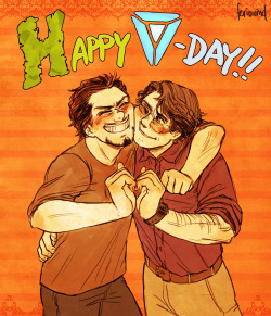 "feriowind:  Everybody is posting Valentine's Day artsies already, so here's mine!! I wanted to have a witty line like everyone else, but my brain was incapable of thinking such a thing up so I went with cute fonts instead…. And no ""to"" or ""from"" though because I forgot….."
