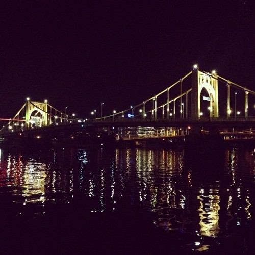 at Roberto Clemente Bridge