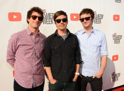 Andy Samberg, Jorma Taccone, and Akiva Schaffer (A.K.A The Lonely Island) attend Youtube's Comedy Week Live Show on May 19, 2013.