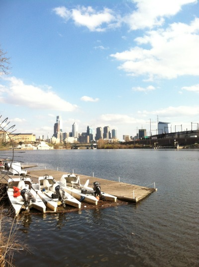 sometimesandthenothertimes:  Philly Skyline from Boat House Row