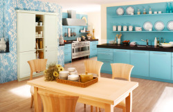 homedesigning:  Blue Kitchens