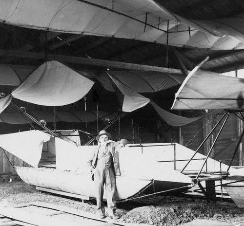 """Wilhelm Kress with His Seaplane"" (via)"