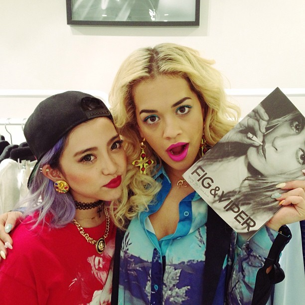 whatjapanswearing:  alisaueno:  my muse @ritaora came to my shop #figandviper 109 for ViVi magazine next issue! def check us out on next ViVi!!! and also I got 3pages about ME !!! how exciting!!! thanx #ViVi and thanx all for your supporting xx il post more #ritaora later :D #dreamscometrue (at SHIBUYA 109)  Legit. Amazing.