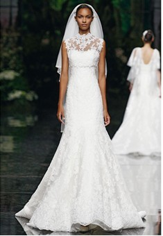 kissthedress:  Elie Saab Wedding Dresses 2013 For Pronovias   Divine silhouettes.