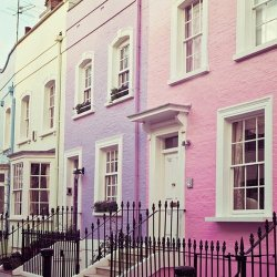 easter coloured houses. <3 S