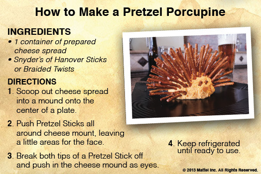 Easy, fun and perfect for a Game Break! Grab a bag of Snyder's Pretzel Sticks!