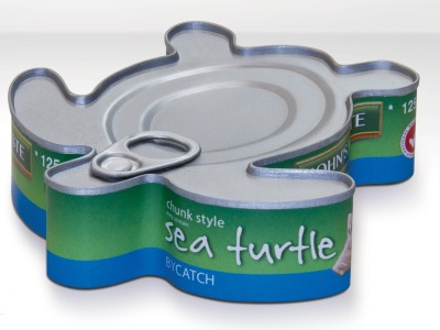 Would This Can of Tuna Make You Think Twice? Did you know that due to destructive tuna fishing practices, sea turtles, sting-rays and dolphins are often inadvertently killed? In fact, John West Australia slaughters enough of these animals through by-catch to fill 10 million tuna cans. Yikes. To increase awareness about John West Australia's unsustainable fishing practices, Greenpeace created this uniquely-shaped can. What do you think of the awareness product? Read more —>