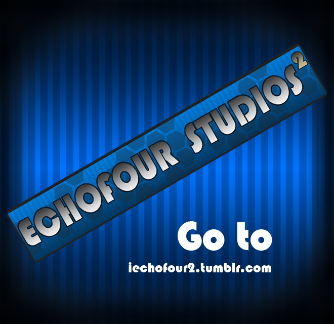 A Secondary Echofour Studios Blog is now up. This is a place for my personal art whereas the Primary Blog will continue to showcase other incredible artists. My secondary blog (iechofour2) is still very new so bear with me. I know there's not much up to see yet and posting might be more conservative but still check it out regardless. Thank you. -Flex McCool-
