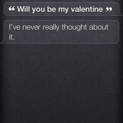 Siri and I are having a great #ValentinesDay so far…. ❤ Bahahahaha #funny #awkward #weird #goodnight