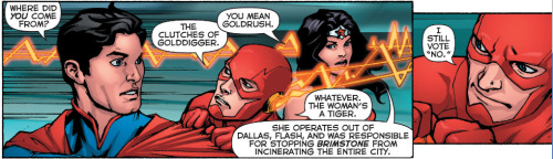 interestingbitsofnothing:  Flash can't handle being hit on. Haha