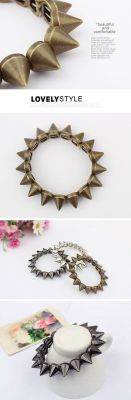 Preorder Spiky Bracelet Color: Black, Silver, Copper $3+ shipping