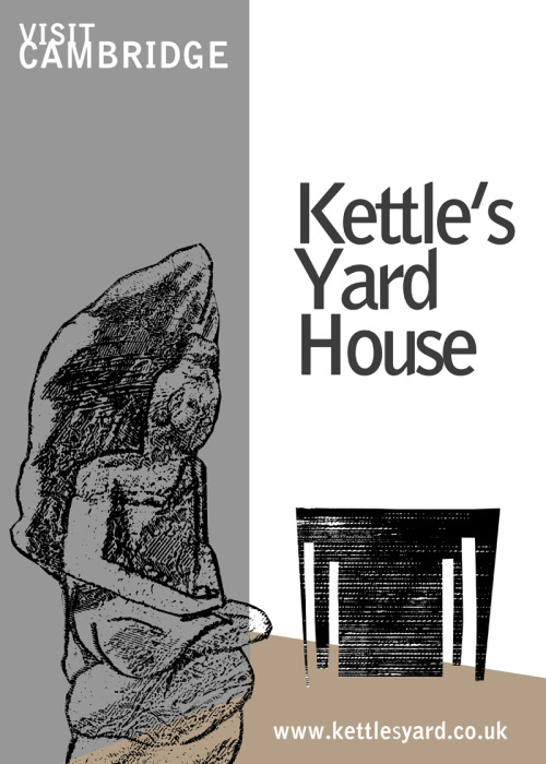 A poster for Kettle's Yard in Cambridge
