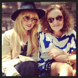 rachelzoe:  Lunch with Diane von Furstenberg