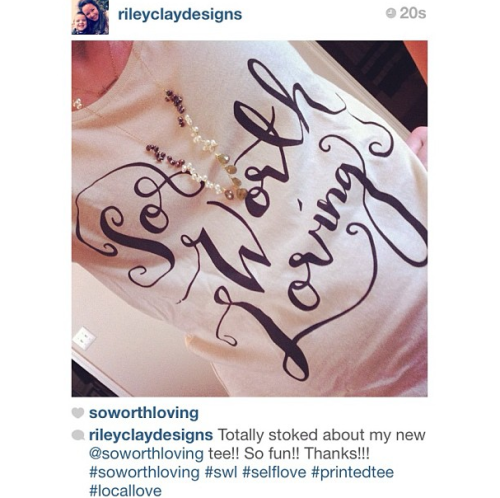 """Ribbons and Curls"" tee! Love seeing you guys represent!"
