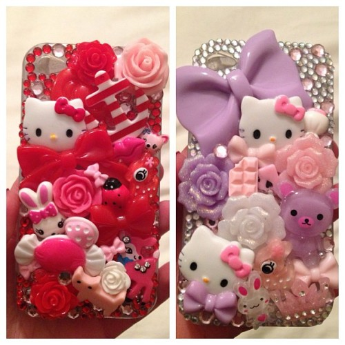 Selling these two Kawaii cases for iPhone 4.. Let me know if you're interested #iphone4 #iphone4s #kawaii #deco