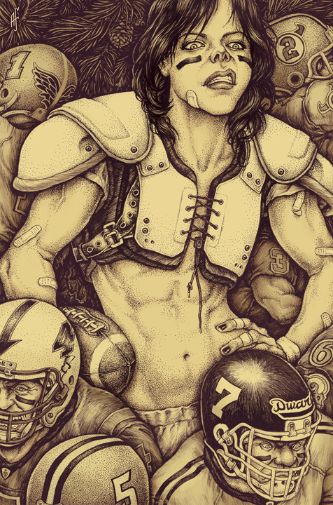 Ready For Some Football? #SUPERBOWLSUNDAY2013  Artwork by Alex Ferreiro: Website