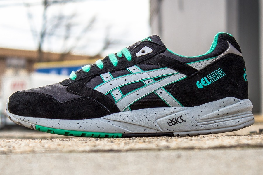 one-norf:  asics gel saga black mint