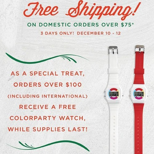 Free Shipping within the US over $75 and free watch over $100. Ends on Wednesday! Poketo.com (at Poketo)