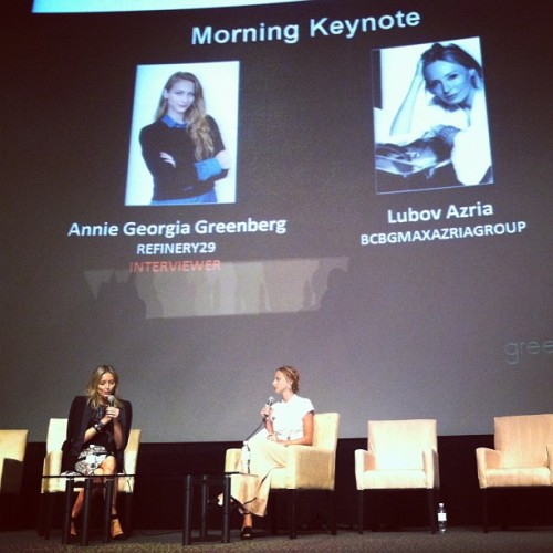 #LubovAzria talking #digital this morning at #FashionDigitalLA. #BCBGlive  (at Directors Guild of America)