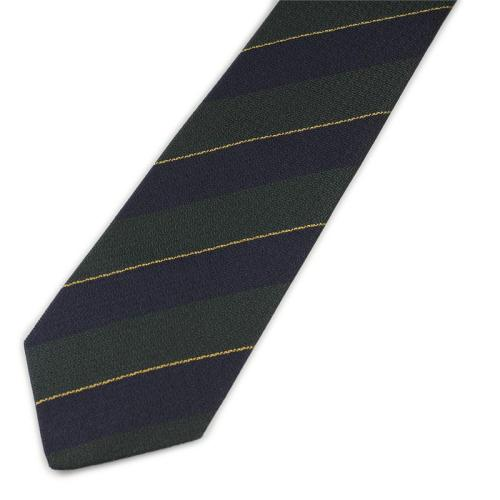 Drakes London Navy And Olive Striped Necktie