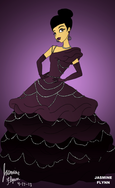 Purple Pearl Dress. a digital drawing by me, Jasmine Flynn :)
