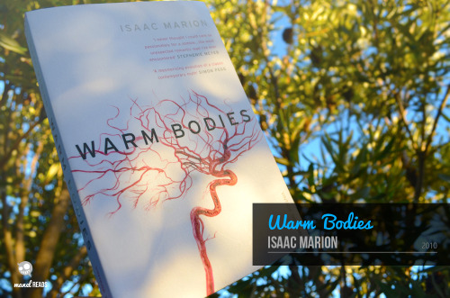 manelreads:  Warm Bodies - Isaac Marion I was planning on reading this book while I was on holiday, but I ended up neglecting it because I was having too much fun, and I ended up watching movies on the plane instead. I only managed to finish it when I got back so I apologise for the long delay.  The story centres around R, a zombie in a post apocalyptic world going about his day. He grunts and moans and years for human brains like any other zombie and he does his best to get through with what he has left. Humans haven't been completely wiped out and there are a few groups of them living around the world trying to fix it and rebuild new communities. One fateful day, however, R runs into a human, Julie, and he starts to feels things inside him that he thought were long dead. The character of R is so fascinating. Since he is a zombie, he has a very different view in life since he knows that he has nothing to lose. He is a very likeable character, easy going and determined to get things done. After he eats the brain of a man named Perry he starts to see things that make him view the world differently. He's emotions get heightened and he starts to think things more thoroughly and the gradual change that R goes through is great to read as you see his humanity start to shine through. Julie's character was also very solid. I was worried that she might end up being the damsel in distress character and be very annoying and disruptive but she turned out to be just as determined as R, if not more. She is a very strong minded character, she knows what she wants and she fights for it. She had to learn to adapt to her new situation when she meets R and it was great to see her work and fight for what she believes in. She sort of represented the last hope that humanity has and she was the one really fighting for a better world. Their chemistry together was also quite strong on the page, even though early on they didn't have much dialogue together. The nice little smirks and looks that they share with each other really highlight the playful and curious nature of R and the feminine side of Julie.  I loved the dual narrative between R and Perry. It took me a while to get used to it as it was constantly changing between R and Perry without much notice. I found myself re-reading a few chapters again just to figure out who was talking and try to make sense of the situation. After a while though, you start to notice the subtle differences in their voice and situations and the contrast between them really highlights not only their characters, but also their lives and the different worlds that they both lived in. The story is very character driven, giving us many flashback chapters that go into their backstory. The book really explores the themes of life and death, hope and hopelessness and idea that things can change and R is the perfect character that embodies all of these themes. He is a zombie fighting for life, fighting for a brighter future, not only for himself, but for Julie, his other zombie friends and the last of the human race. He welcomes the changes that are happening to him and uses them to fuel his determination. The chapters seen through Perry's eyes also give us a look into a world where there was hope, a future, and these images are just another thing that give R strength.