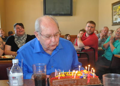 My grandpa held his 85th birthday party today at the Iowa City Pizza Ranch Party Room, combining SO MANY of my favorite things. How was your Sunday?