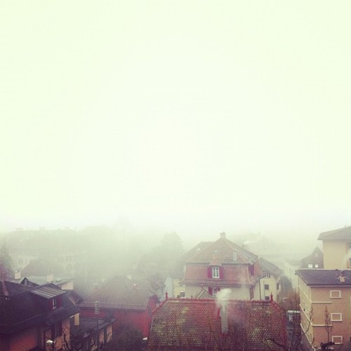 Foggy morning #fog #morning #lausanne