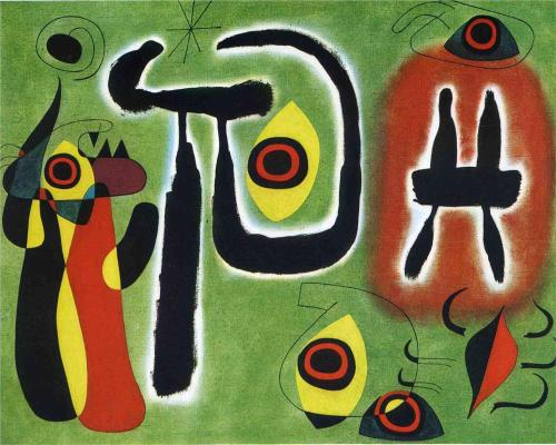 The Red Sun Gnaws at the Spider ~ Joan Miro
