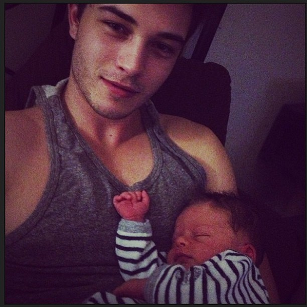 studsandpeaches:  Francisco lachowski with his baby, think I'm in love