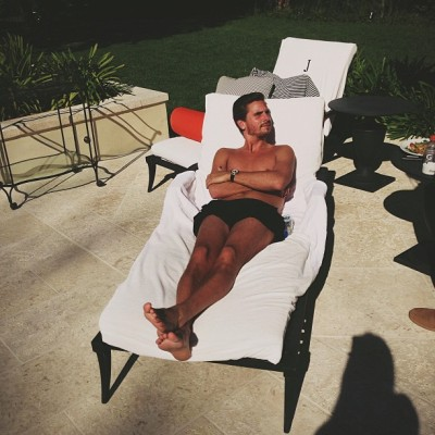 """mr. Disick soaking up the sun""- Kendall Jenner"