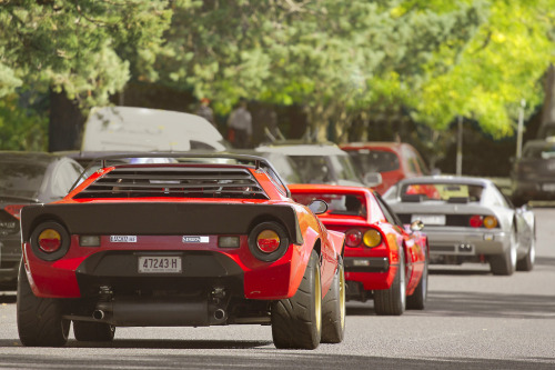 carpr0n:  Special stash Starring: Lancia Stratos, Ferrari 512 BBi and 328 GTS (by Will Dinn)  Now that's a convoy.