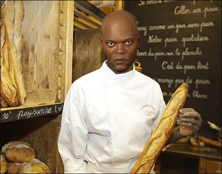 Samuel L Jackson as the Master Baker Mace Windu