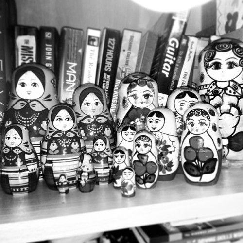 #blackandwhite #black #and #white #dolls #bandw #russian #books #bookshelf #decor #decoration #room #england #london
