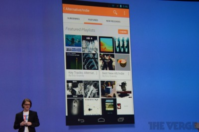 thisistheverge:  Google takes on Spotify with Google Play Music All Access subscription service Google has formally announced its new subscription music initiative at the 2013 I/O conference