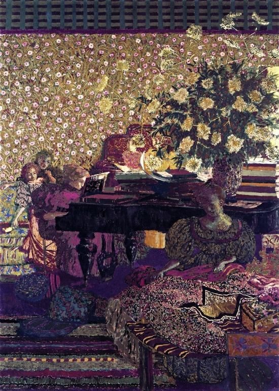 darksilenceinsuburbia:  Édouard Vuillard. Figures in an Interior: Music, 1896.