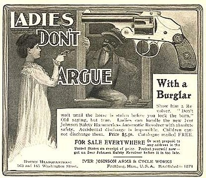 weirdvintage:  Late 19th century Iver Johnson Safety Revolver ad (via Retronaut)