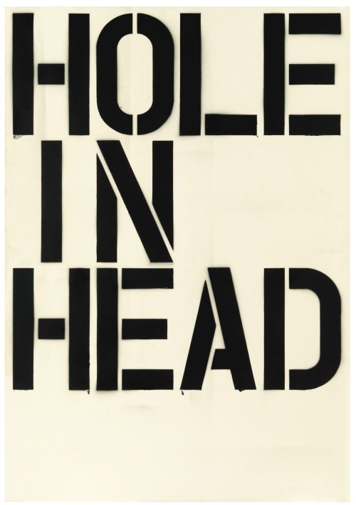 cruiseorbecruised:  Christopher Wool Head, 1992  enamel on aluminum 52 x 36 in. 132.1 x 91.4 cm.