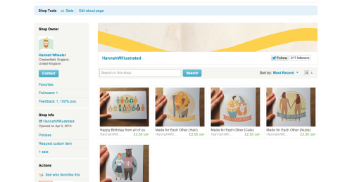 My ETSY store is now open! yay :D