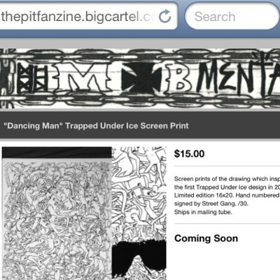 Don't miss out. 2pm. Thepitfanzine.bigcartel.com