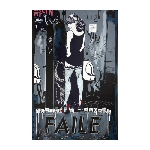 Gender Bender Blue Stockings from Faile - RE/CREATE New York Bids close in a few hours on our first round of auctions with all proceeds benefitting New York Cares ongoing Hurricane Sandy relief efforts!